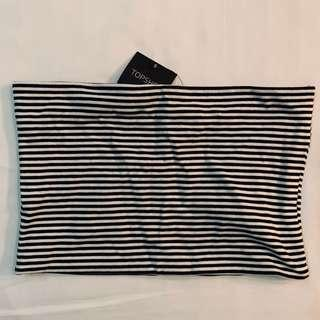 Bnwt Topshop black and white striped tube TOP authentic