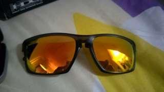 Authentic Oakley Sliver F Polarized Folding Sunglasses Matte Olive/Fire Iridium