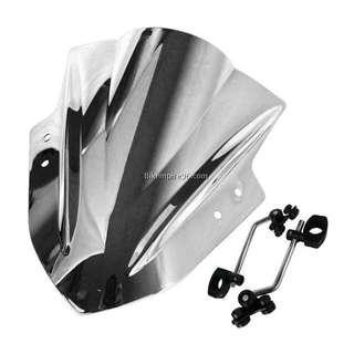 Chrome Universal Wind Shield for Motorbike/MotorCycle/E Bike