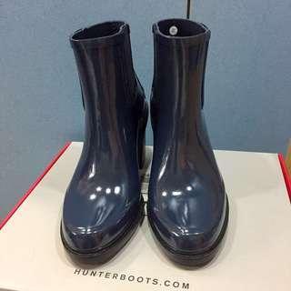 Hunter 深藍高跟雨靴 雨鞋