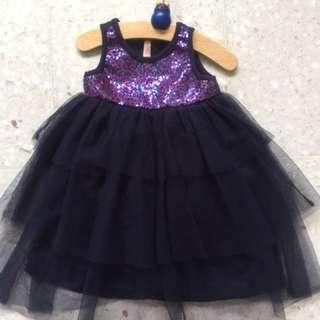 Girls cotton on Christmas sparkles dress age 2
