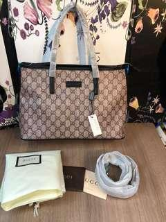 Sale!! Brandnew Authentic Quality Gucci Tote Bag (Zipped)