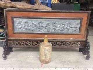 中式擺設~石雕九龙壁插屏
