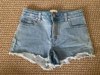 Seed Denim Frayed Shorts Size 6
