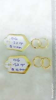 🚚 916 Gold Loop Earrings