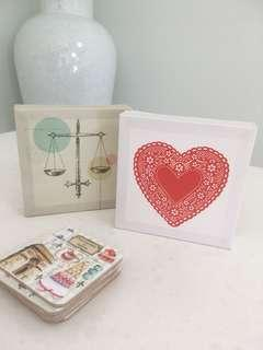 2x Cute Stand / Hang Mini Canvas by TYPO ❤️⚖️