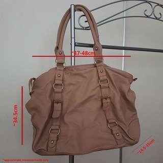 TOPSHOP Beige Tan Tote Shoulder Bag