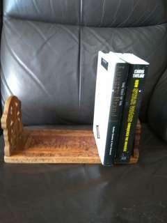 Handcarved wooden bookstand