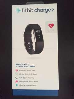 Fitbit Charge 2 Fitness And Heart Rate Tracker Black S Size Band (Brand New but Opened Box)