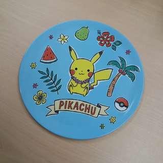 比卡超膠碟 pokemon x 3coins pikachu plastic dish 3 coins