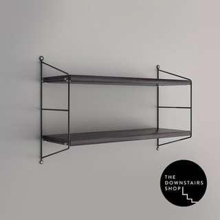⚡️[Instock] Kad Minimalist Metal x Wood Wall Shelf