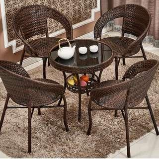 OUTDOOR Rattan Table & Chairs