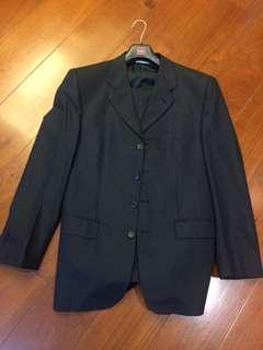 法國brommel細紋黑西裝套