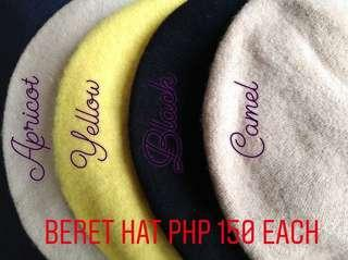 ON HAND! Beret hat (available colors: yellow)