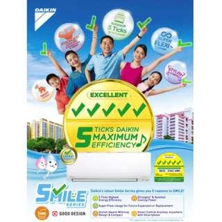 *🎄🎊🎉PROMO* DAIKIN SMILE SERIES (5 TICKS)