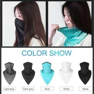 Anti-UV Breathable Quick-Dry Half Face/ Neck Sun Protection Triangle Scarf
