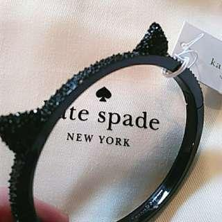 Kate Spade New York Jazz Things Up Pave Cat Ear Bangle (INSTOCK)