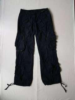 🚚 美式風 多口袋寬褲女款