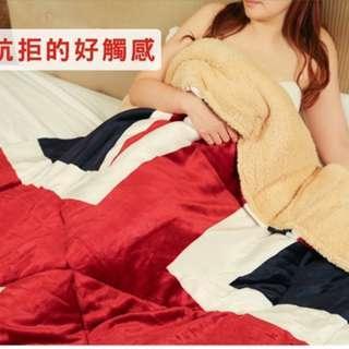 《魔手坊》M-英國旗羊羔絨暖暖被/棉被