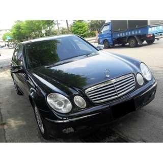 2003年 Benz 賓士 E240 2.6