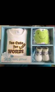 Too Cute For Words Baby Clothes Gift Set