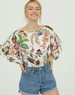 Hnm wide blouse