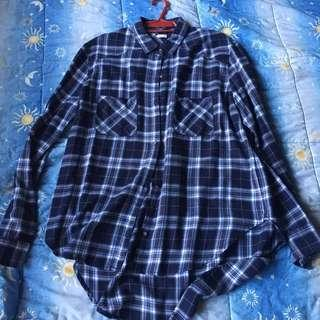 Hollister Blue Checkered Top (Plus Size)