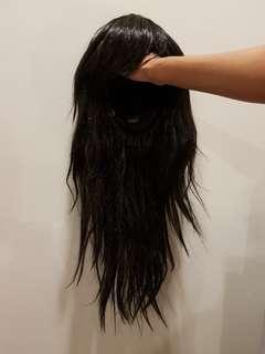 Long hair wig black