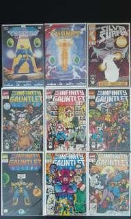 MEGA SUPER-SET: Thanos Quest #1,#2; Silver Surfer #50; Infinity Gauntlet #1,#2,#3,#4,#5,#6 (1991,1st Series) Complete Set of 9 Books-Massively EPIC! Infinity War 2018 Movie Based On This Story Set! SUPER-HOT Marvel Collector Editions! A Must-Have!💥☄