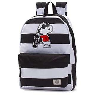 New Snoopy Vans x Peanuts 黑白間紋backpack