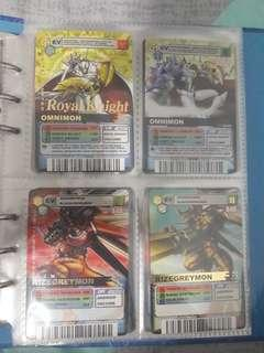 Super rare digimon cards