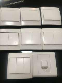 LEGRAND Lighting Switches (1-2-3 Gang) For Sale