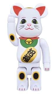 Bearbrick White Manekinko 400%