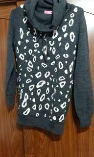🚚 F.F.F.F.豹紋羊毛衣M號