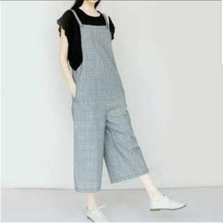 Grey Checkered Jumpsuit