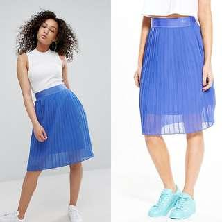 NWOT Adidas Originals Electro Pleated Sheer Skirt