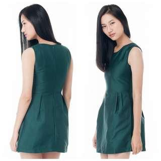 Forest / Emerald Green Mini Work Dress