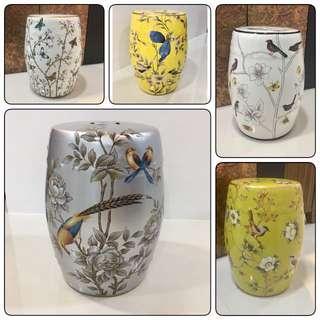 Beautifully porcelain stools