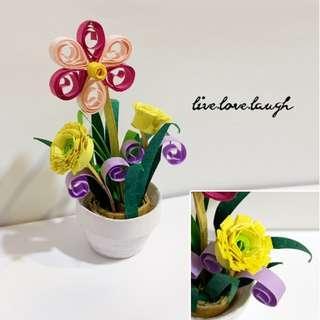 🚚 Flower Pot Quilling Art