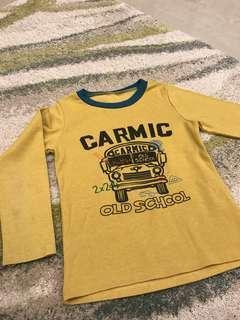 男童-薄黃色上衣