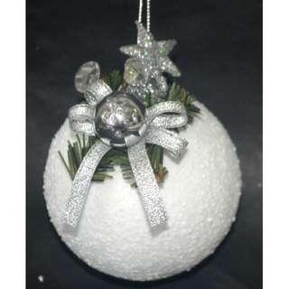 4 Pcs. Snow Ball with decoration -8cm