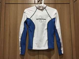 Scubapro white rashguard (Medium, women)