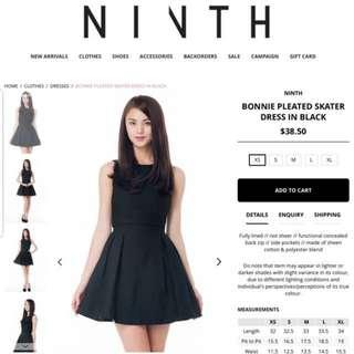 Ninth Collective Bonnie Pleated Skater Dress