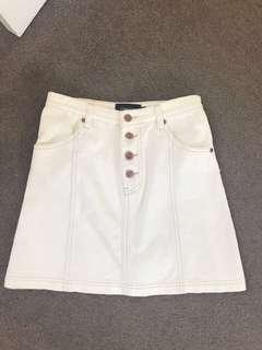 Mink pink white skirt