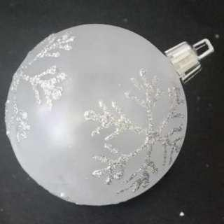 4 Pcs. Plastic Snowflake Pattern Ball -6cm