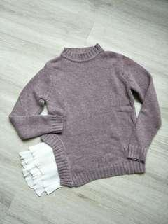 🚚 藕紫色針織上衣