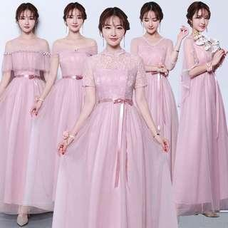 Dusty pink bridesmaid / evening dress