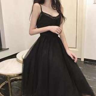 Black Simple Evening Dress