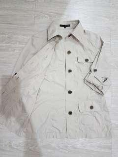 🚚 日本22 OCTOBRE 防風材質薄版襯衫外搭外套-M號