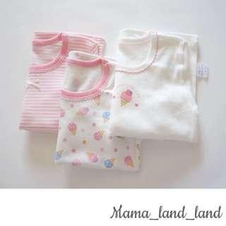Lovely sweet baby / kid girl cotton soft long sleep wear pyjamas ( 3 pcs @ Set )